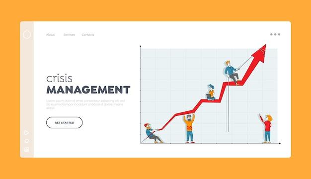 Шаблон целевой страницы деловых людей, персонажей, совместной работы, сотрудничества