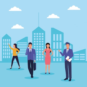 Business people in the city
