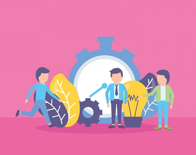 Business people clock