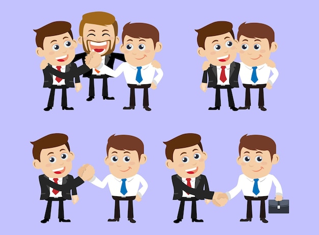 Business people in cooperation  and partnership concept