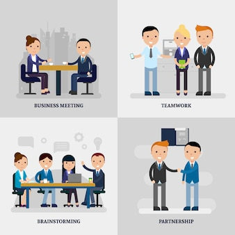 Business people flat concept
