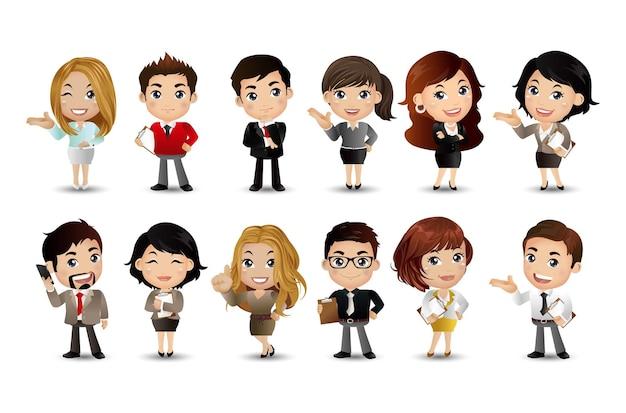 Группа деловых людей аватары персонажей вектор