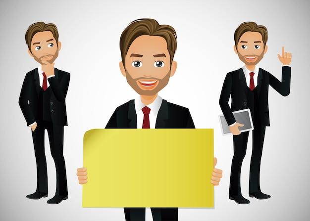 ビジネスマンはアバターのキャラクターをグループ化します Premiumベクター