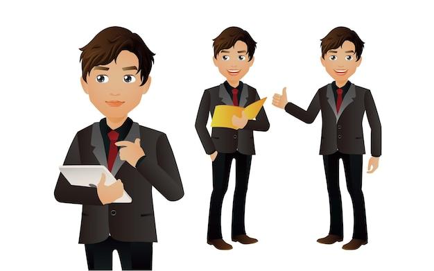 ビジネスマンはアバターのキャラクターをグループ化します