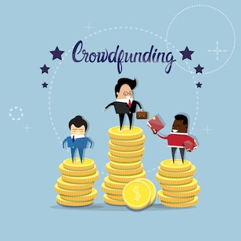 Business people group crowd funding investment concept