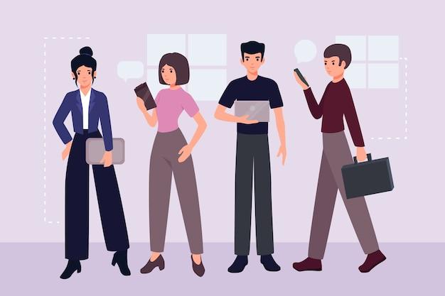 ビジネス人々の図の概念