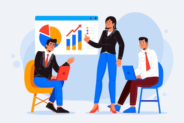 Business people illustration concept