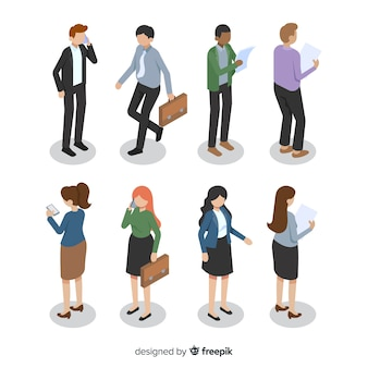 Business people illustration different angles