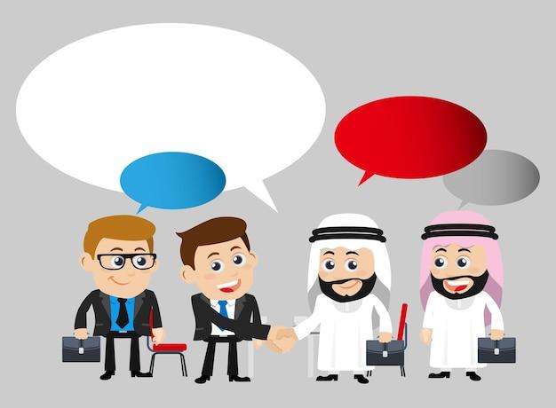 Деловые люди в концепции сотрудничества и партнерства