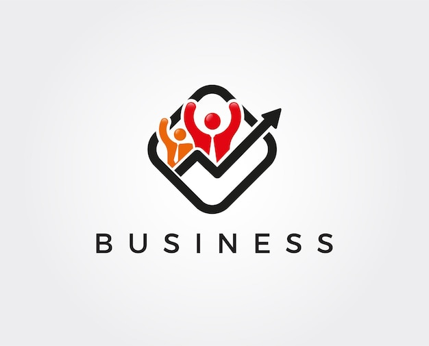 Шаблон логотипа деловых людей
