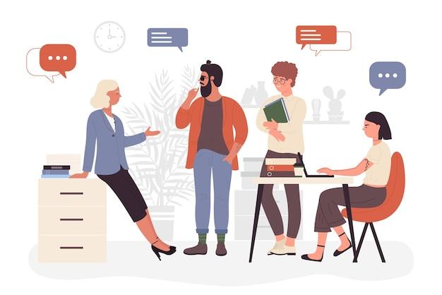 Деловые люди встречают коллективную работу рабочего процесса мозгового штурма с командой коллег мужчин и женщин