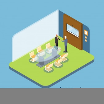 Business people modern office interior