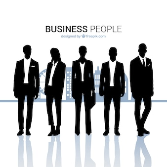 Business people outlines collection