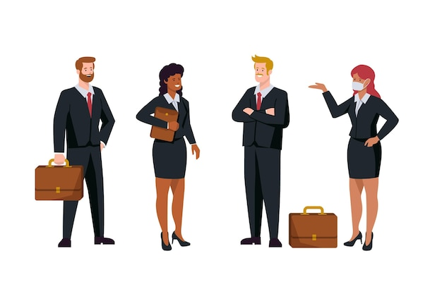 Business people pack flat design