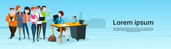 Business People Team Boss Businesswoman Manager Sit Teamwork