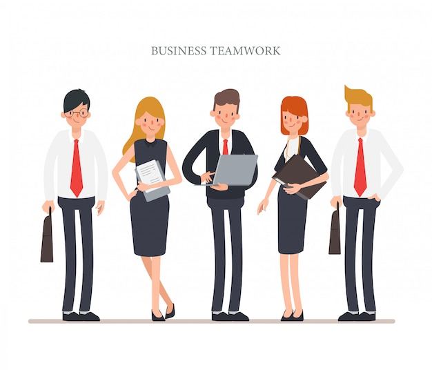 Business people teamwork character for animation.
