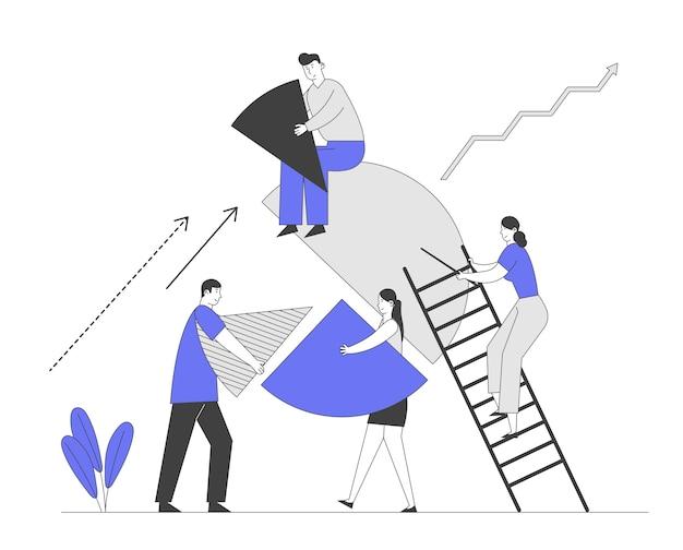 Деловые люди совместной работы, сотрудничество и концепция партнерства