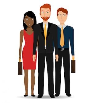 Uomini d'affari e lavoro di squadra