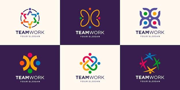 Business people together. illustration logo