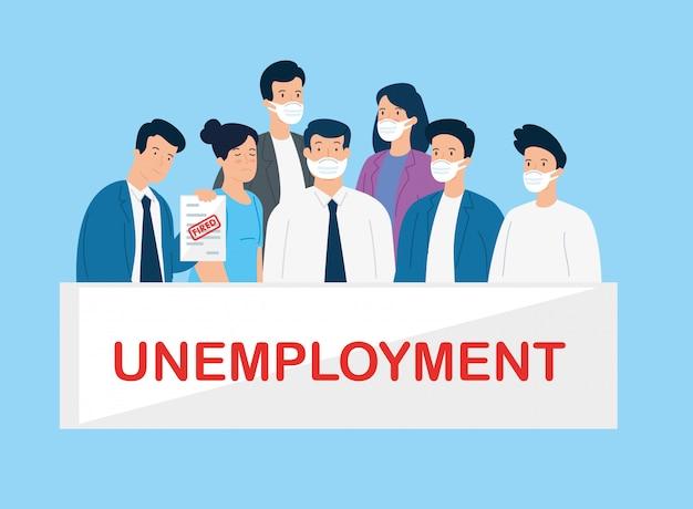 Business people unemployment because of coronavirus pandemic