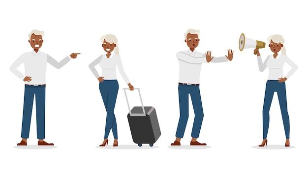 Иллюстрация работника деловых людей