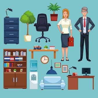 Деловые люди, работающие в офисе