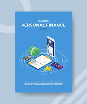 Business personal finance flyer template