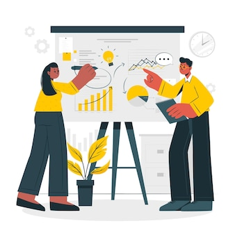 Business plan concept illustration