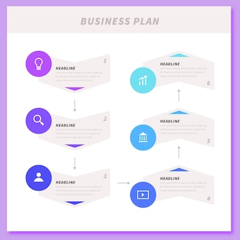 Business plan infographic concept