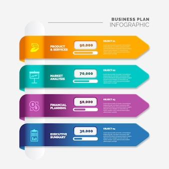 사업 계획 infographic 개념