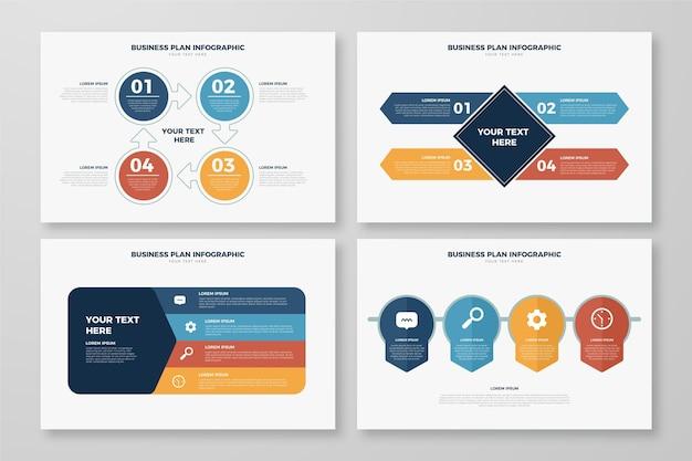 事業計画のインフォグラフィックデザイン