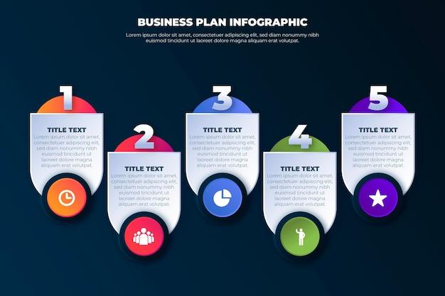 事業計画インフォグラフィックテンプレート