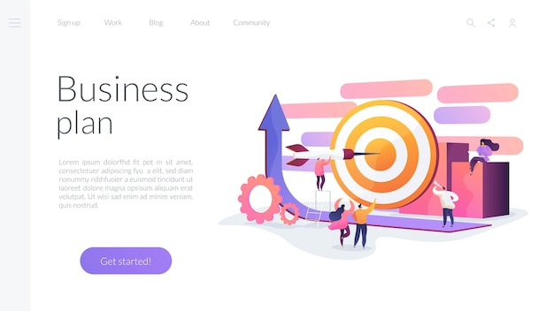 Business plan landing page template