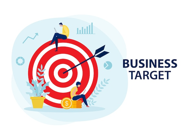 Business plan and  target achievement concept