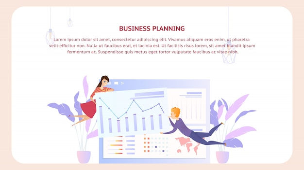 Business planning analysis document design banner
