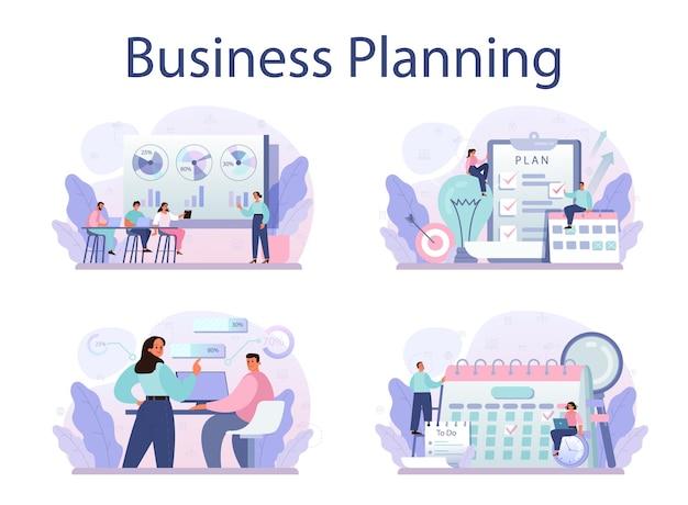事業計画のコンセプトは、目標を設定する事業戦略のアイデアを設定します