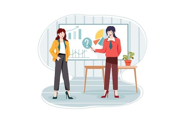 Бизнес-планирование иллюстрации концепции