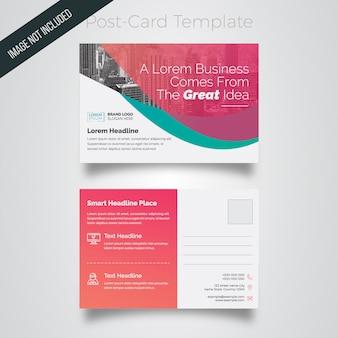 Business postcard layout