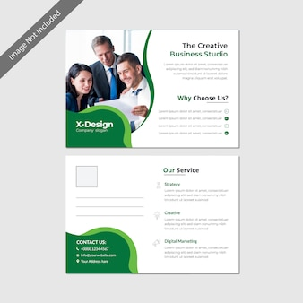 Business postcard template design