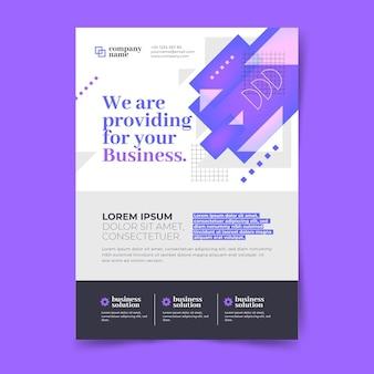 Modello di progettazione di poster aziendali
