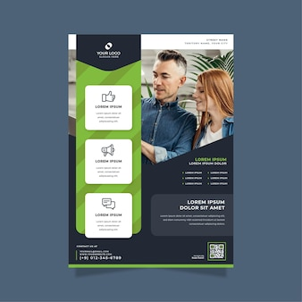 Business poster print template
