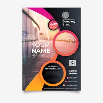 Business poster template in abstract style