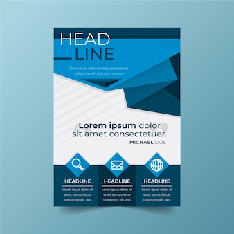 Business poster template with infographic