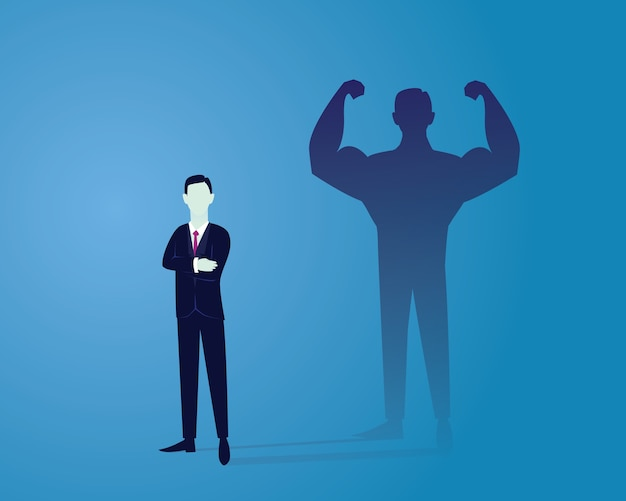 Business power concept. strong businessman