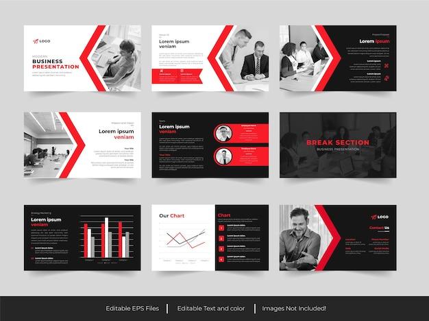 ビジネスパワーポイントのプレゼンテーションデザイン