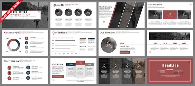 비즈니스 파워 포인트 프레젠테이션은 인포 그래픽 요소에서 템플릿을 슬라이드합니다.