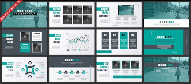 Business powerpoint presentation slides templates from infographic elements.