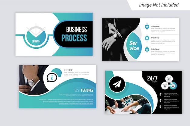 Business powerpoint presentation template design. use for business annual report.