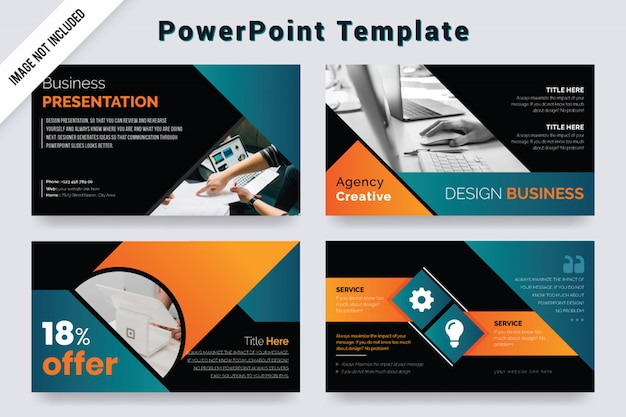 Business powerpoint slides template design.