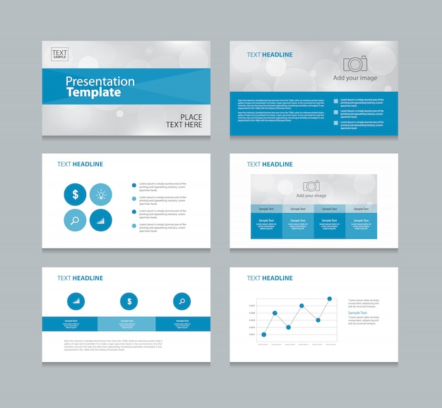 Business presentation backgrounds design template